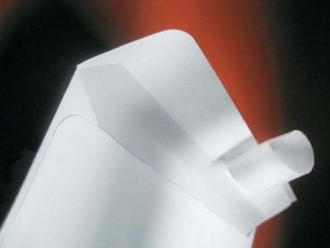 Koperta C5 biala HK z paskiem (162x229)